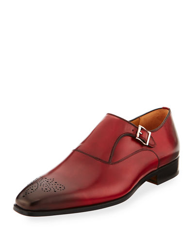 Hand-Antiqued Calfskin Monk Loafer