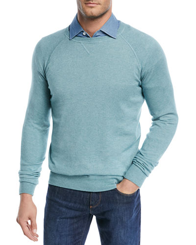 Loro Piana Silk-Cashmere Crewneck Sweater