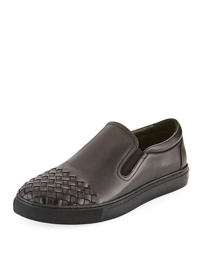 Men's Adder Basket-Weave Slip-On Sneakers
