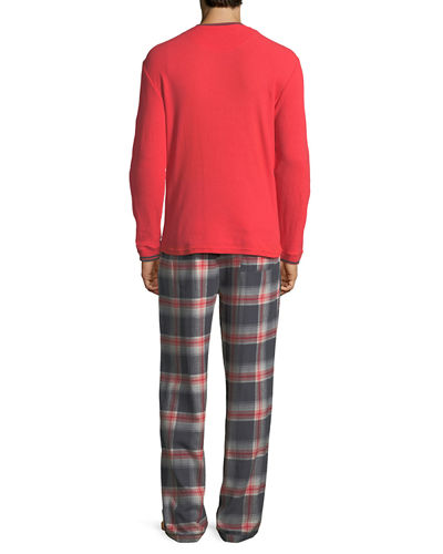 Thermal Tee & Flannel Pants Lounge Gift Set