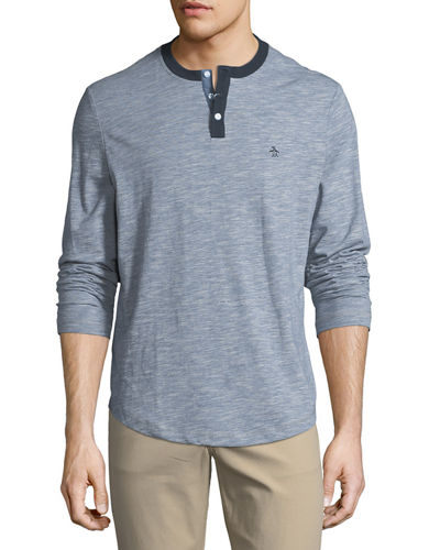 Long-Sleeve Feeder Striped Henley