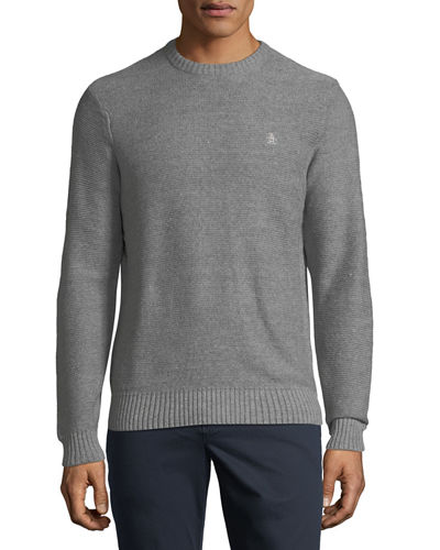 Ribbed-Knit Cotton Sweater