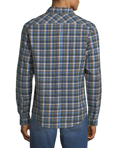 Multi-Gingham Sport Shirt
