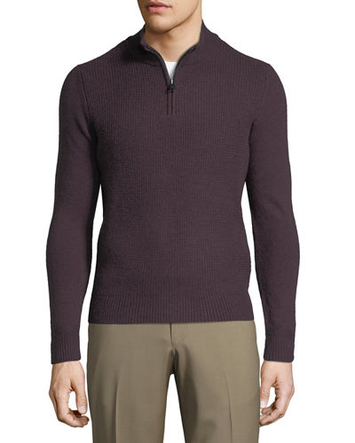 Funnel-Neck Wool Sweater