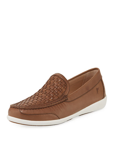 Graniti Woven-Vamp Leather Loafer