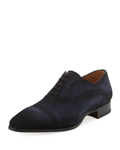 Brogue Leather Lace-Up Oxford