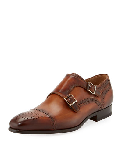 Brogue Leather Monk Loafer