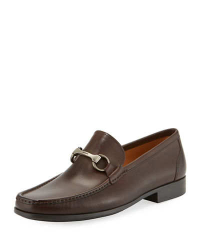 Moc-Toe Leather Horsebit Loafer