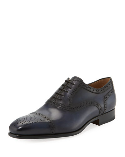 Brogue Leather Eyelet Loafer