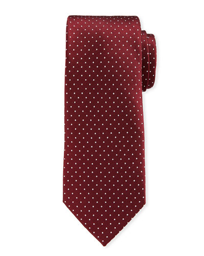 Dot Pattern Silk Tie