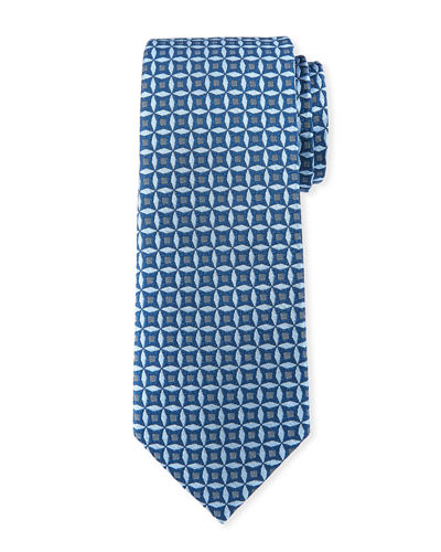High Float Patterned Silk Tie