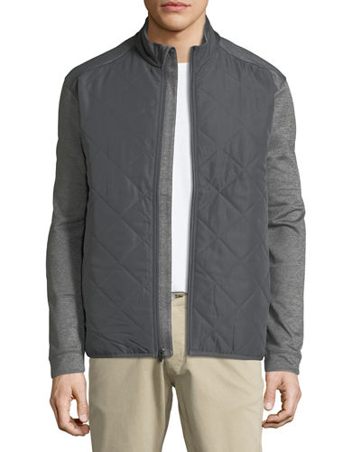 Callaway-Perry Ellis Quilted Zip-Front Fleece Jacket