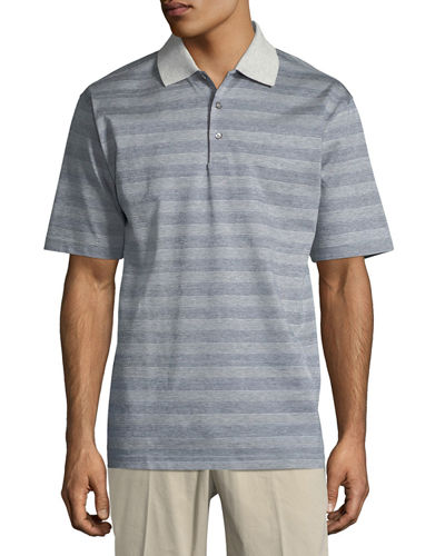 Greenwich Jacquard Stripe Polo Shirt