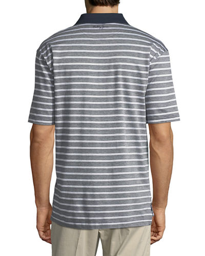 Breen Jacquard Stripe Polo