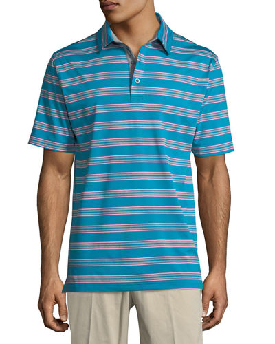 XH20 Wren Heather Striped Polo Shirt