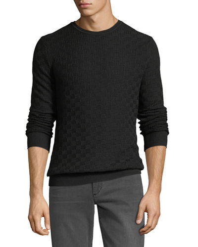 Basketweave Crewneck Sweater