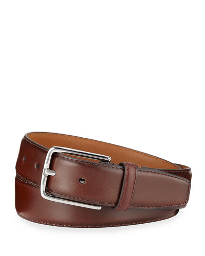 Smooth Leather Dress Belt
