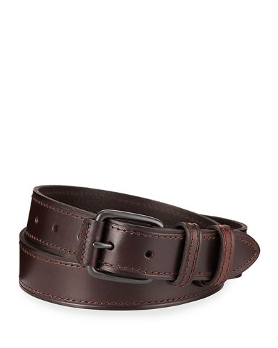 Double-Loop Leather Belt