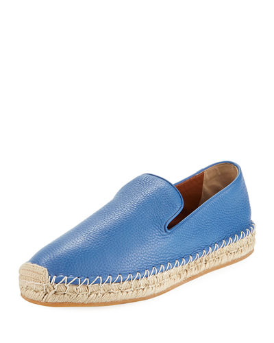 Men's Pebbled Leather Slip-On Espadrille