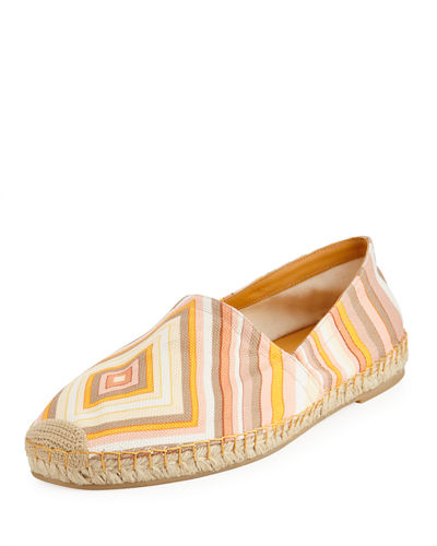 Printed Fabric Slip-On Espadrille