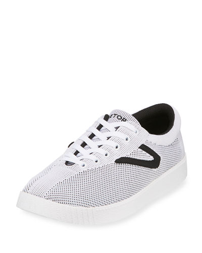 Knit Low-Top Mesh Sneaker