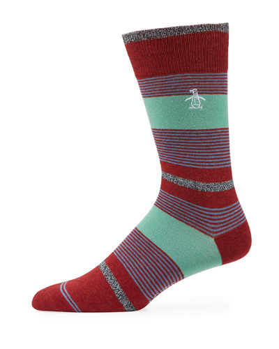 Gladstone Combed Cotton Striped Socks
