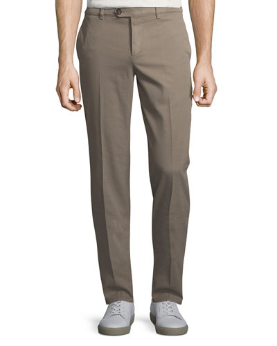 Basic Slim Gabardine Pants