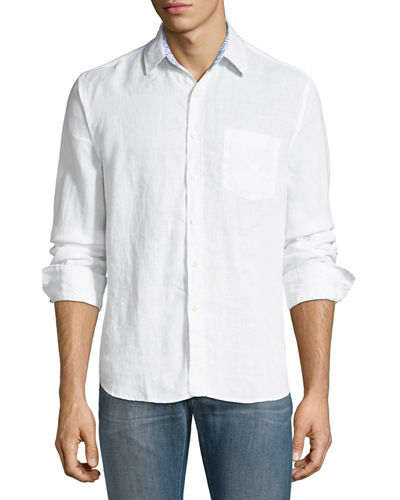 Garment-Washed Linen Sport Shirt