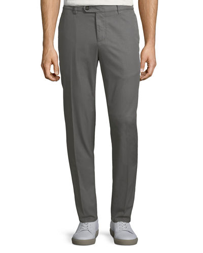 Regular-Fit Cotton Gabardine Pants