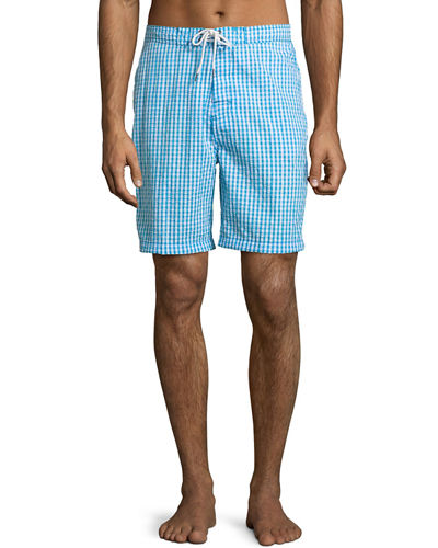 Gingham Seersucker Swim Shorts