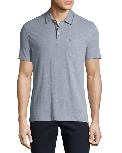 Birdseye Short-Sleeve Polo Shirt