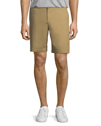 Straight Fit Cotton Shorts
