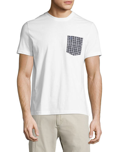c8550239c Original Penguin Floral-Grid Pocket Tee