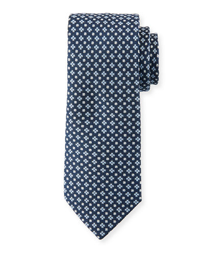 Alternating Neat Silk Tie