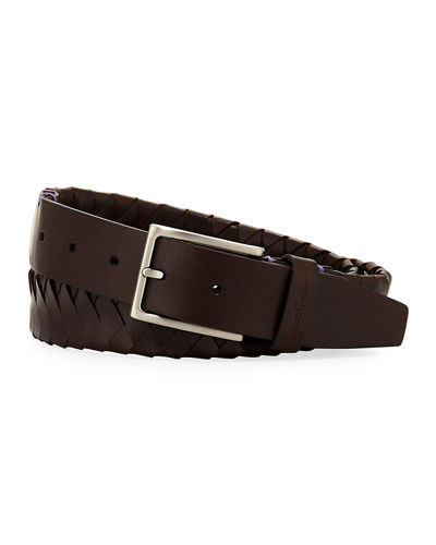 Robert Graham Filberto Braided Leather Belt