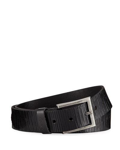 Amada Reversible Scored Leather Belt