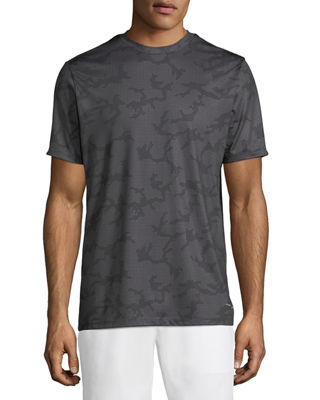 TAHARI SPORT Dot-Camo Sport Tee in Black
