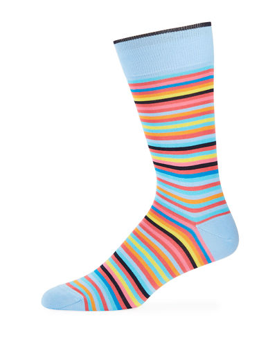 Men's Striped Cotton-Blend Socks