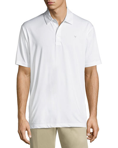 Callaway-Perry Ellis Stretch-Knit Polo Shirt