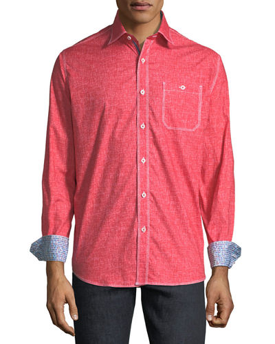 Classic-Fit Space-Dye Sport Shirt