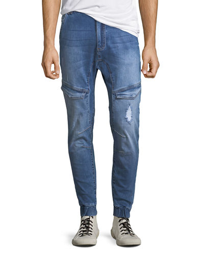 Distressed Tapered Flight Pants