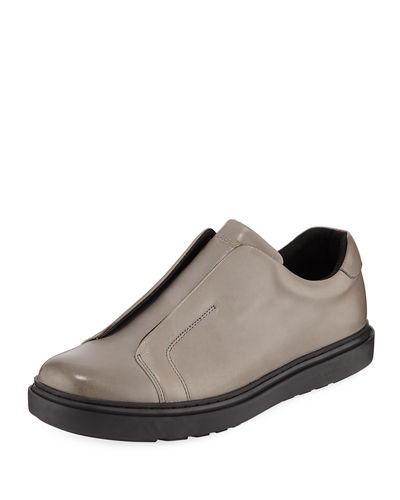 Karl Lagerfeld Paris Men's Laceless Leather Slip-On Sneakers