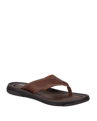 Men's Leather Thong Sandals