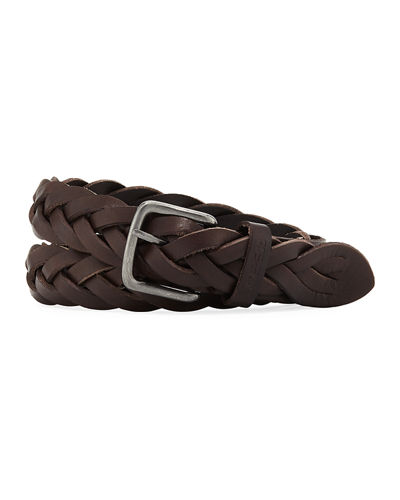 Braided European Leather Belt