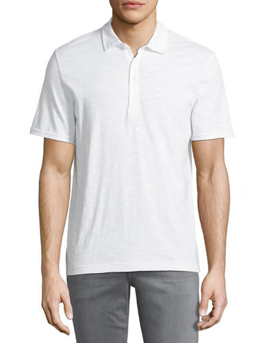 Men's slub-Knit Polo Shirt