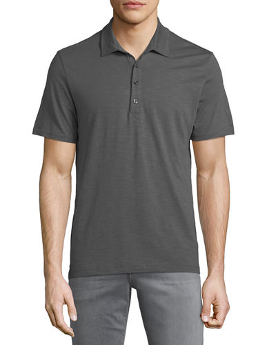 Michael Bastian Men's slub-Knit Polo Shirt