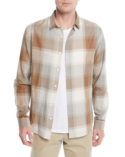 Men's Vintage Wool/Cashmere Plaid Sport Shirt