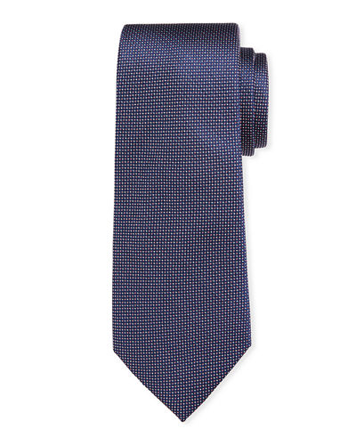 Textured Dot Silk Tie