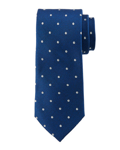 Spaced Dot Silk Tie