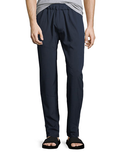 Angle Contrast-Panel Leisure Pants